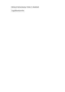 Logistiknetzwerke by Richard Vahrenkamp